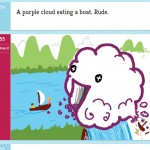 A purple cloud eating a boat. Rude.